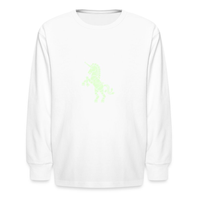 Robicorn Glow in the Dark - Pick a shirt color! - Kids' Long Sleeve T-Shirt