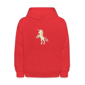 Robicorn Glow in the Dark - Pick a sweatshirt color! - Kids' Hoodie
