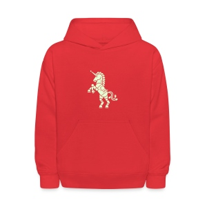 Robicorn Glow in the Dark - Pick a sweatshirt color! - Kids' Hoodie
