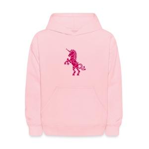 Robicorn Dark Pink - Pick a sweatshirt color! - Kids' Hoodie