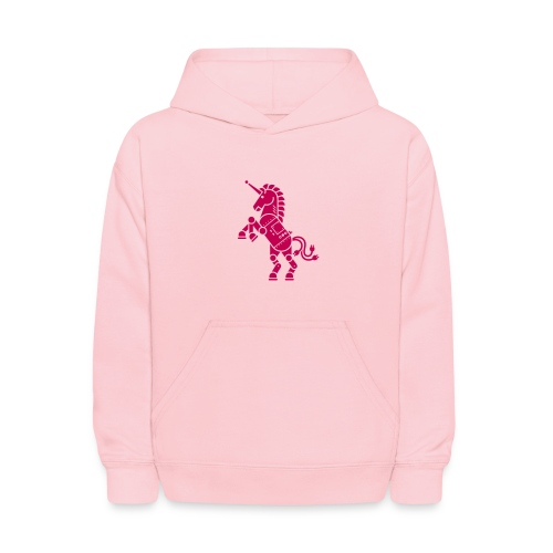 Robicorn Dark Pink - Pick a sweatshirt color! - Kids' Hoodie