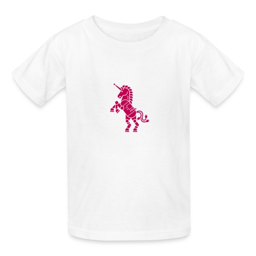 Robicorn Dark Pink on White - Kids' T-Shirt