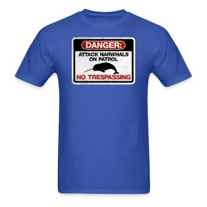 Attack Narwhals on Patrol (Vintage) - Men's T-Shirt