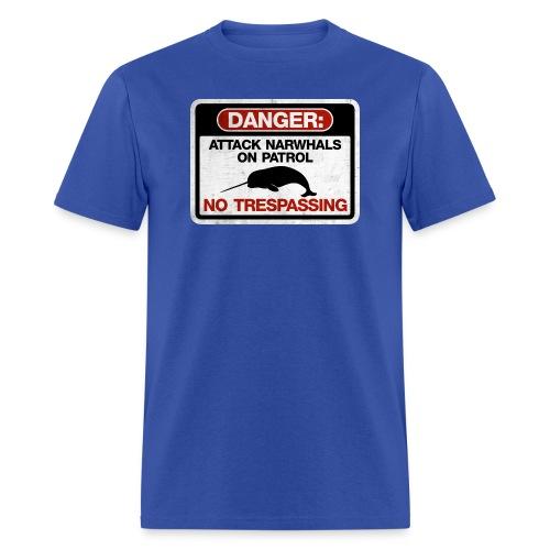 Attack Narwhals on Patrol (Vintage) - Men's T-Shirt