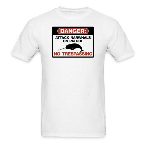 Attack Narwhals on Patrol - Men's T-Shirt