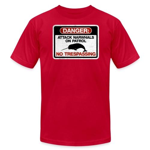 Attack Narwhals on Patrol (Vintage) - Men's Fine Jersey T-Shirt