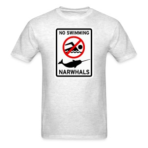 No Swimming Narwhals - Men's T-Shirt