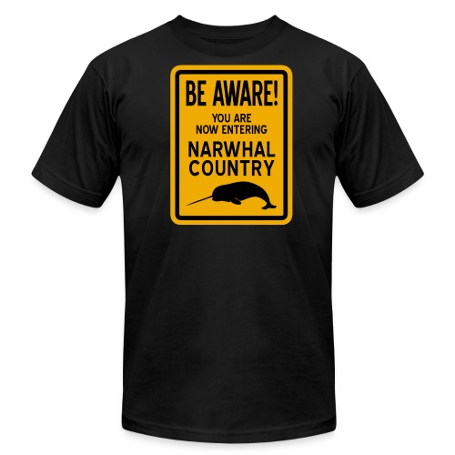 Narwhal Country - Men's Fine Jersey T-Shirt