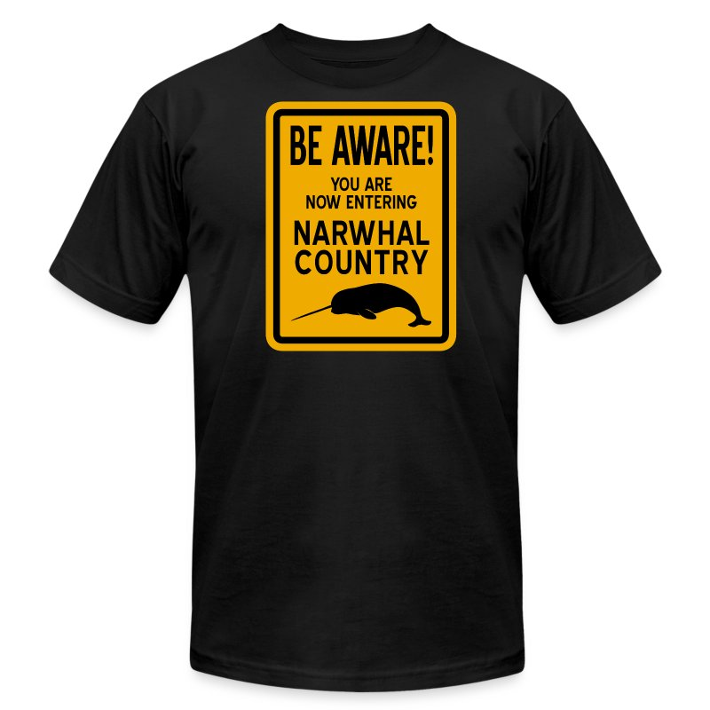 Narwhal Country - Men's T-Shirt by American Apparel