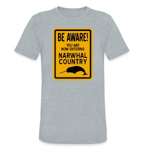 Narwhal Country - Unisex Tri-Blend T-Shirt by American Apparel