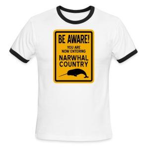 Narwhal Country - Men's Ringer T-Shirt
