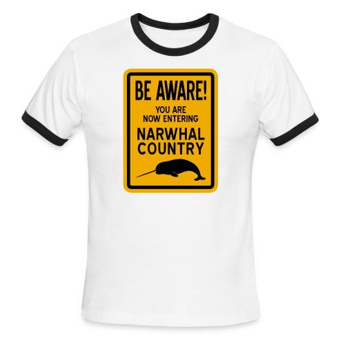 Narwhal Country - Men's Ringer T-Shirt