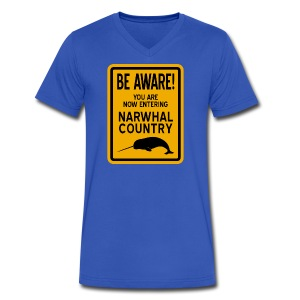 Narwhal Country - Men's V-Neck T-Shirt by Canvas