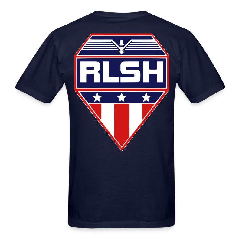 RLSH PATRIOTIC Badge Adult T-Shirt - Men's T-Shirt