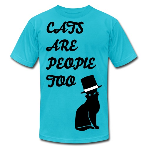 Cats are people too! mens tshirt - Men's Fine Jersey T-Shirt