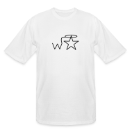 T-Shirts ~ Men's Tall T-Shirt ~ Men's Tall Black Logo Wranglerstar