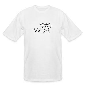 Men's Tall Black Logo Wranglerstar   - Men's Tall T-Shirt