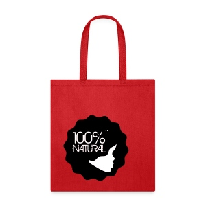 100% Natural Afro Lady Tote - Tote Bag