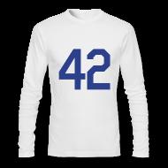 Long Sleeve Shirts ~ Men's Long Sleeve T-Shirt by Next Level ~ Jackie Robinson 42 Long Sleeve Shirt