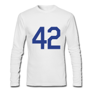 Long Sleeve Shirts ~ Men's Long Sleeve T-Shirt by American Apparel ~ Jackie Robinson 42 Long Sleeve Shirt