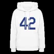 Hoodies ~ Women's Hoodie ~ Jackie Robinson 42 Girls Womens Hoodie Hooded Sweatshirt