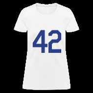 Women's T-Shirts ~ Women's T-Shirt ~ Jackie Robinson 42 Girls Womens T Shirt