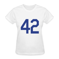 Women's T-Shirts ~ Women's T-Shirt ~ Jackie Robinson 42 Girls Womens T Shirt