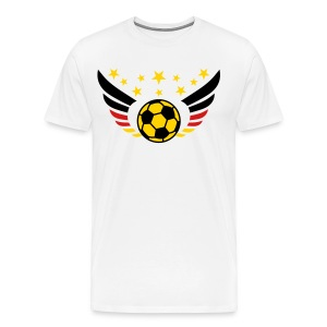 German Football Fussball Wings Star Flag 3c men's Fan T-Shirt - Men's Premium T-Shirt