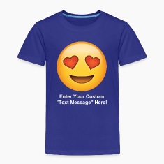 Valentine's Day I love You Heart Eyes Emoticon Baby & Toddler Shirts