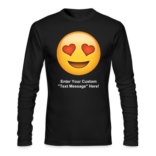 Valentine's Day Text Emoticon - Men's Long Sleeve T-Shirt by Next Level