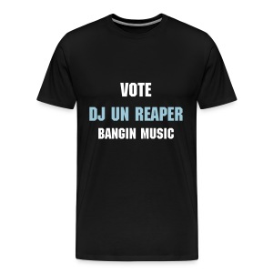 Vote DJ Un (Black) - Men's Premium T-Shirt