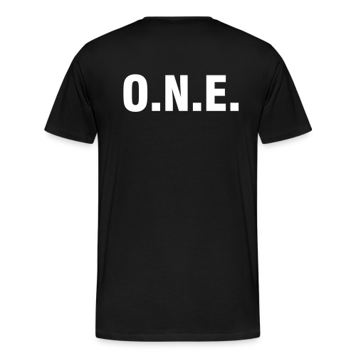 One Nation Earth - Heavyweight Cotton T-Shirt (back only) - Men's Premium T-Shirt