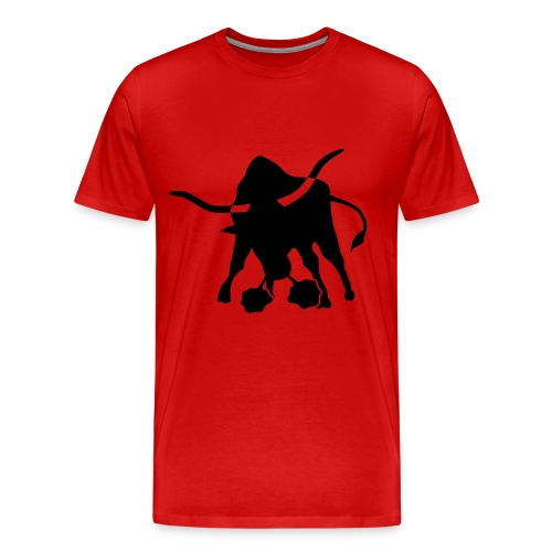 BLACK BULL ON RED T-SHIRT - Men's Premium T-Shirt