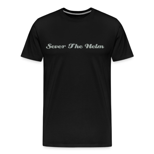 Sever the Helm Grey Text - Men's Premium T-Shirt