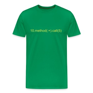 10.method(:+).call(5) - Men's Premium T-Shirt