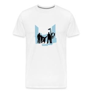 An urban picture on it. - Men's Premium T-Shirt