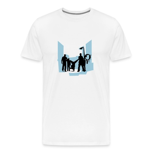 An urban picture on it. - Men's Premium T-Shirt