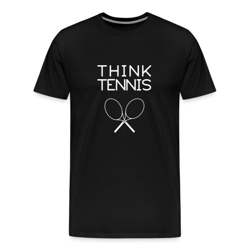 think.tennis (black) - Men's Premium T-Shirt
