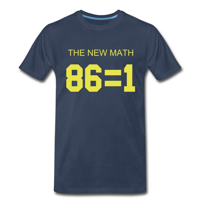 The New Math - Blue - Men's Premium T-Shirt
