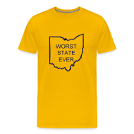 T-Shirts ~ Men's Premium T-Shirt ~ Worst State Ever - Maize