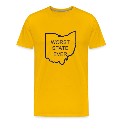 Worst State Ever - Maize - Men's Premium T-Shirt