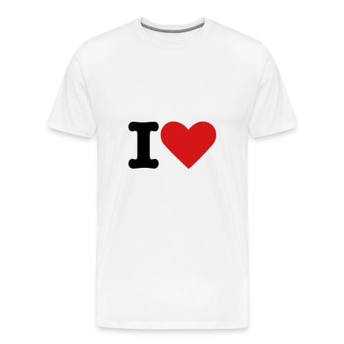 I Heart - Men's Premium T-Shirt