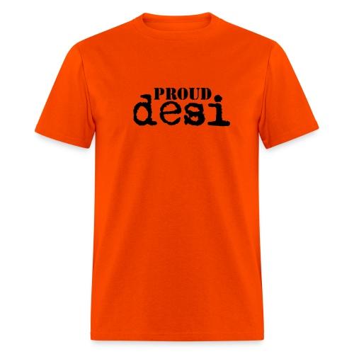Proud Desi - Black on Orange Men's T-Shirt - Men's T-Shirt