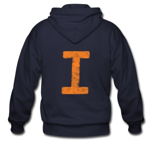 I is for Illinois - Men's Zip Hoodie