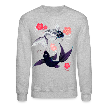 Yin and Yang Koi with Cherrry Blossoms