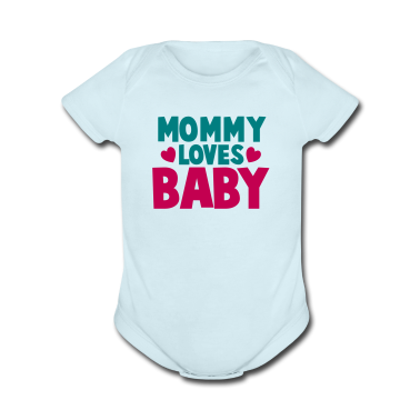 MOMMY LOVES BABY cute mom shirt Baby Bodysuits