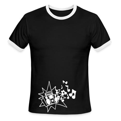 boombox tee - Men's Ringer T-Shirt
