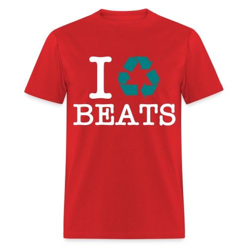 i recycle beats - Men's T-Shirt