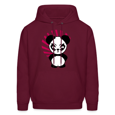 The Little Panda has an angry face Hoodies