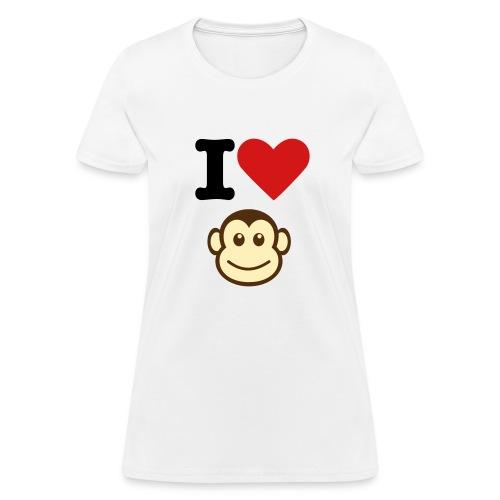 I Heart Monkey - Women's T-Shirt